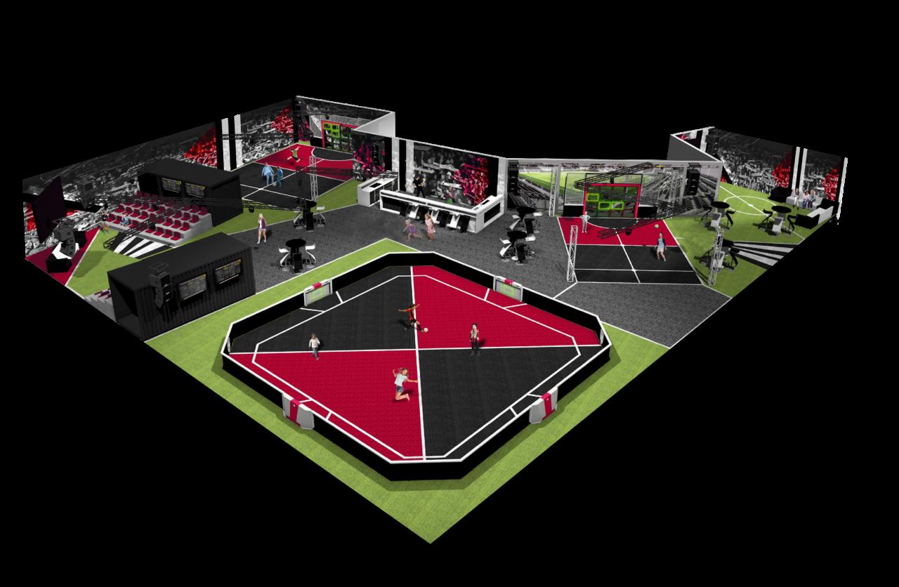 Skizze hergestellt von Yalp: Toro - Mehrzwecksporplatz und Sutu - Fußballwand